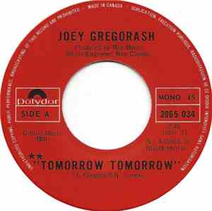 Joey Gregorash - Tomorrow Tomorrow / It Won't Last Long mp3 flac