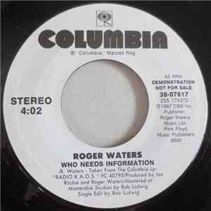 Roger Waters - Who Needs Information mp3 flac