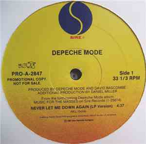 Depeche Mode - Never Let Me Down Again mp3 flac